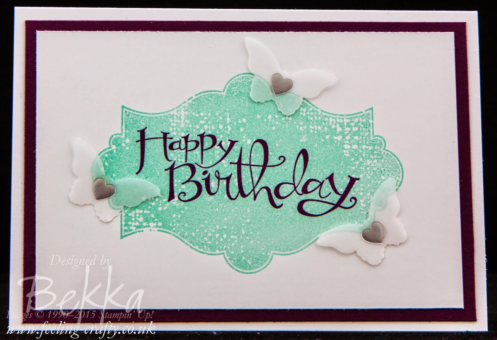 Birthday Card Featuring the Everything Eleanor and Sassy Salutations Stamp Sets from Stampin' Up! UK.  Check it out here