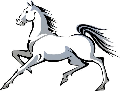 2014 Año chino del caballo - blanco