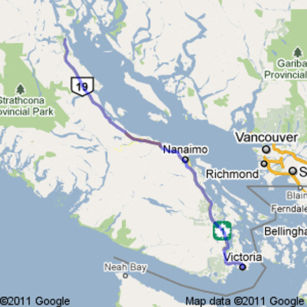 WERE ON THE ROAD AGAIN Map of Campbell River BC to Newport OR