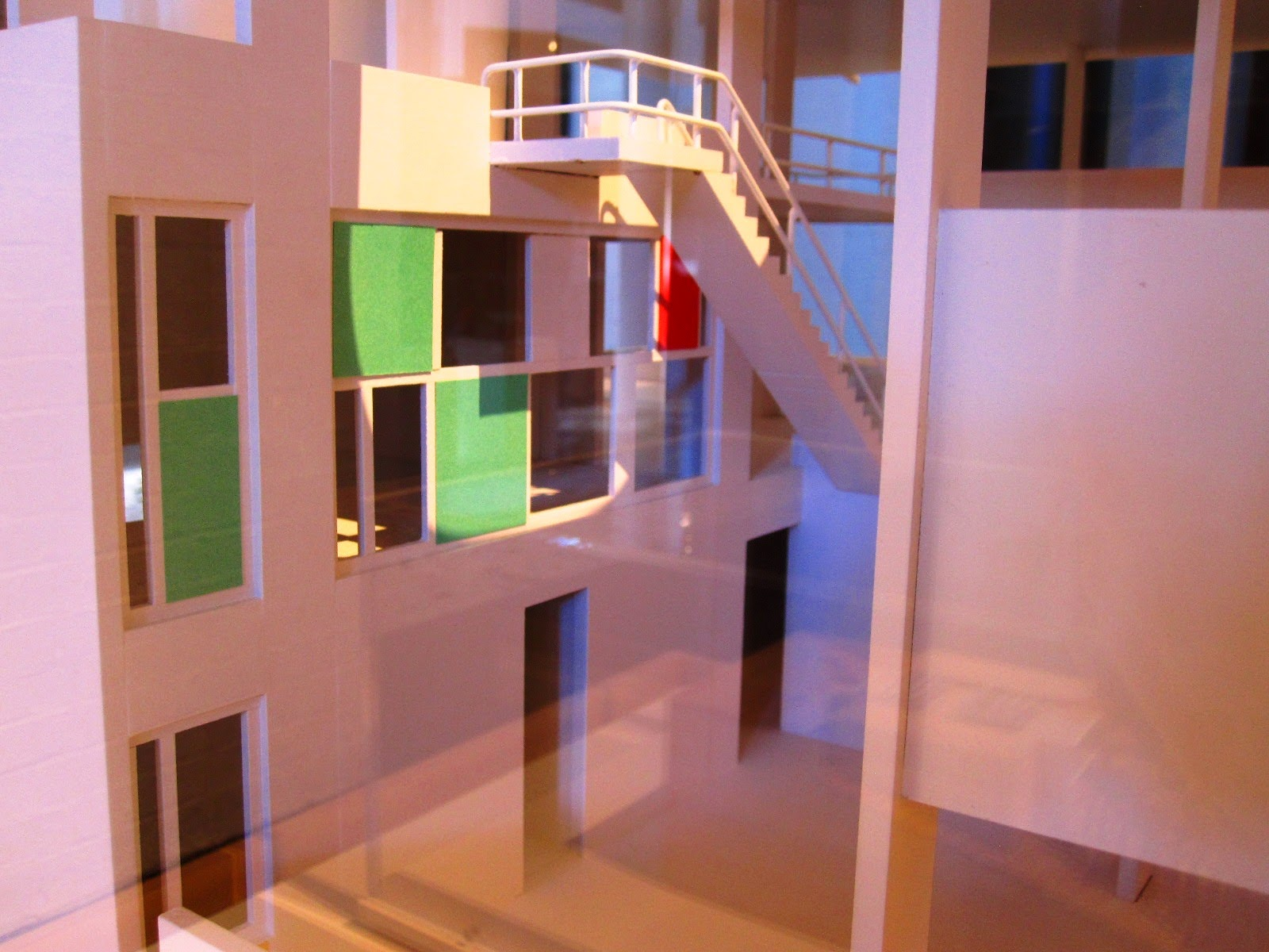 Architectural model of Le Corbusier's Villa Shodham.