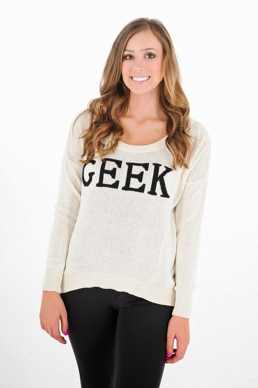 Kiki Larue sweater geek ivory