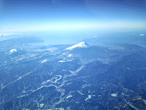 Mount Fuji from 35,000 feet.