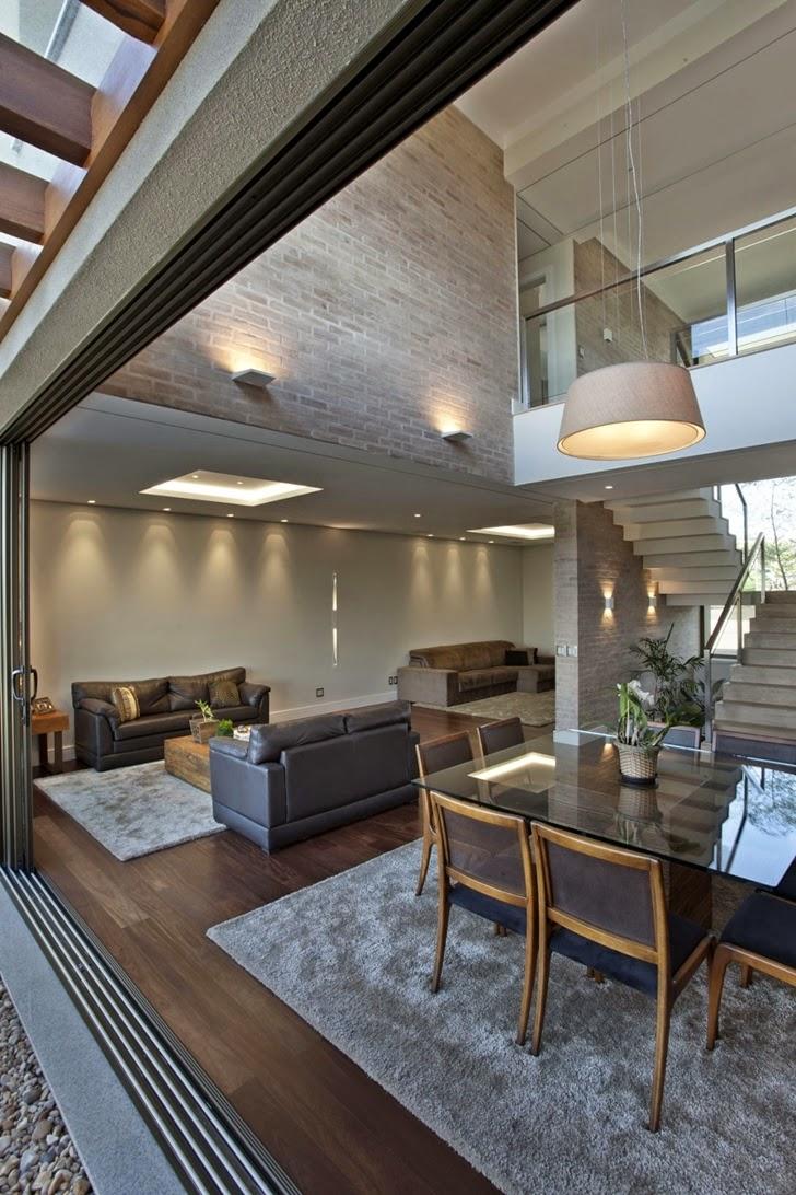 Barandillas vidrio y otros materiales 50 escaleras de for Casas modernas brasil