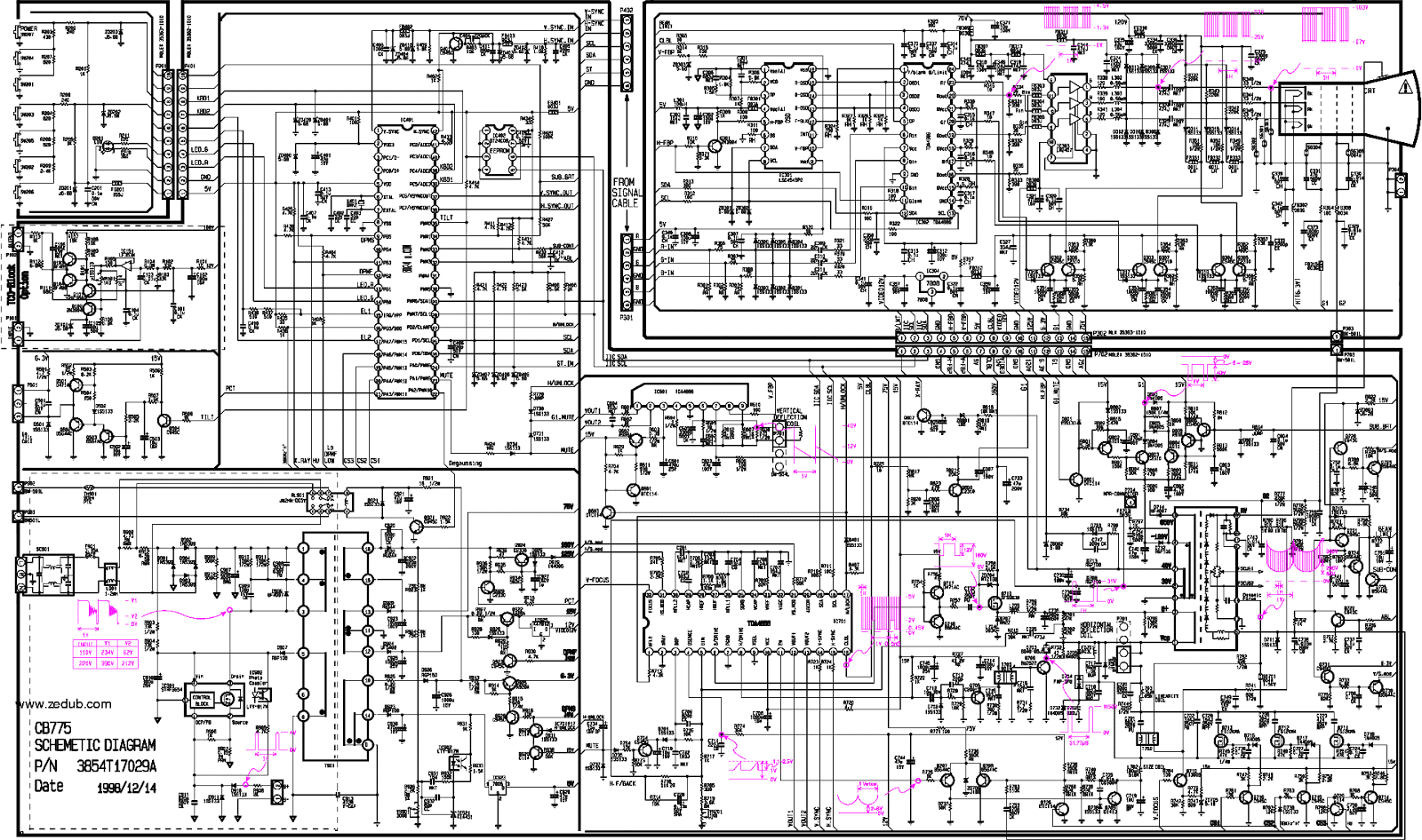 lg_cb775bn.pdf_1 Crt Tv Schematic Diagram Pdf on power supply, circuit board, sanyo crt,