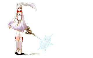 Weiss Schnee RWBY Anime White Hair Sword Girl HD Wallpaper Desktop PC Background 1674