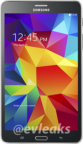 Samsung galaxy tab 4 7.0 evleaks