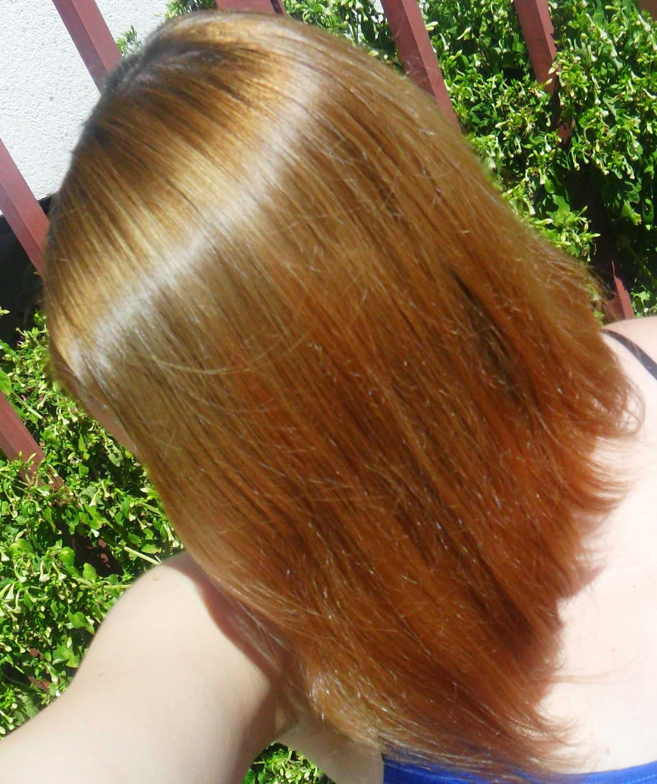 tercera aplicacion para matizar el cabello rubio