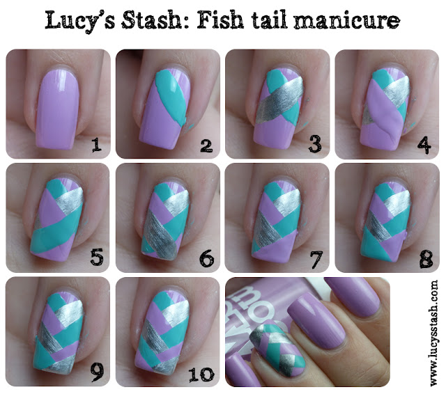 Lucy's Stash - Fishtail braid manicure tutorial