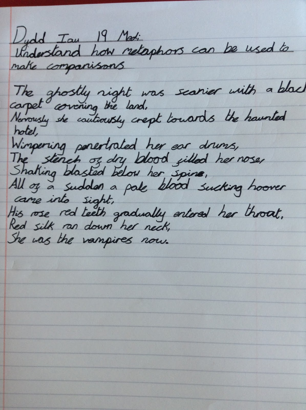 Llanharan Primary School Yr5/6: Room 13 Vampire Poems
