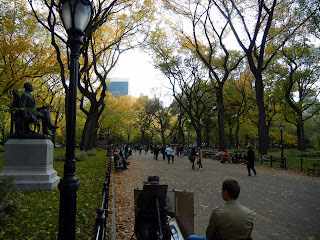 The Mall in Central Park in New York City