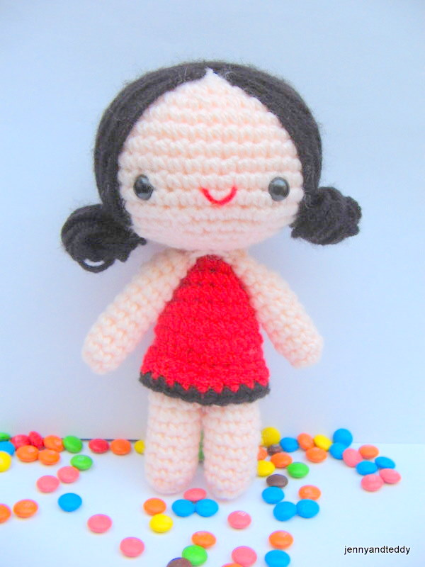Easy Amigurumi Cute : Crochet (DOLLS) on Pinterest Amigurumi Doll, Amigurumi ...