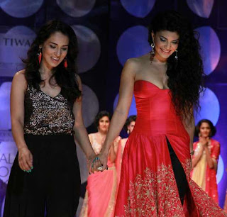Jacqueline, Prateik, Sophie & Amyra walk the ramp for Rina Dhaka @ IBFW