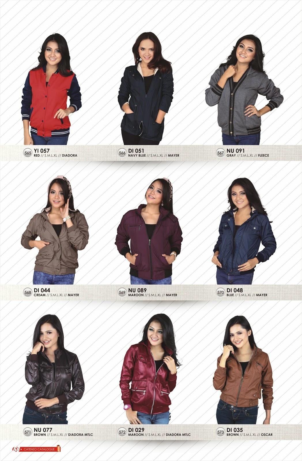 CATENZO - jaket casual wanita keren, modis dan trendi
