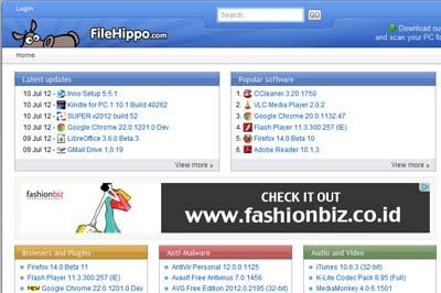 FileHippo, Gudangnya Software Gratis