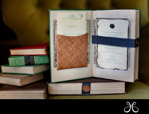 I love love love all the ideas I see on line for book themed weddings