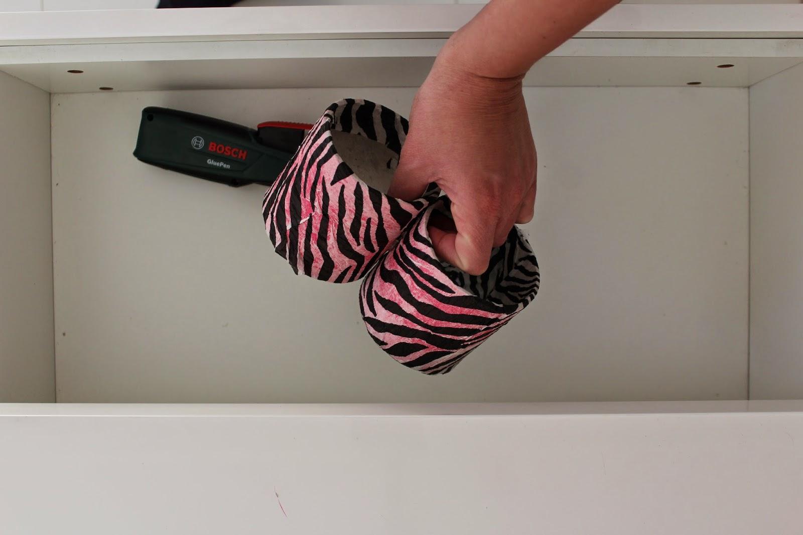 bosch pistolet do kleju na gorąco,inspiracje, DIY blog, krok po kroku organizer do szuflady
