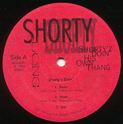 Shorty Long – Shorty'z Doing His Own Thang / My Peoplez (VLS) (1994) (VBR V0)