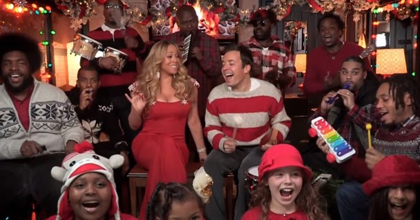 Carey jimmy fallon and the roots perform all i want for christmas