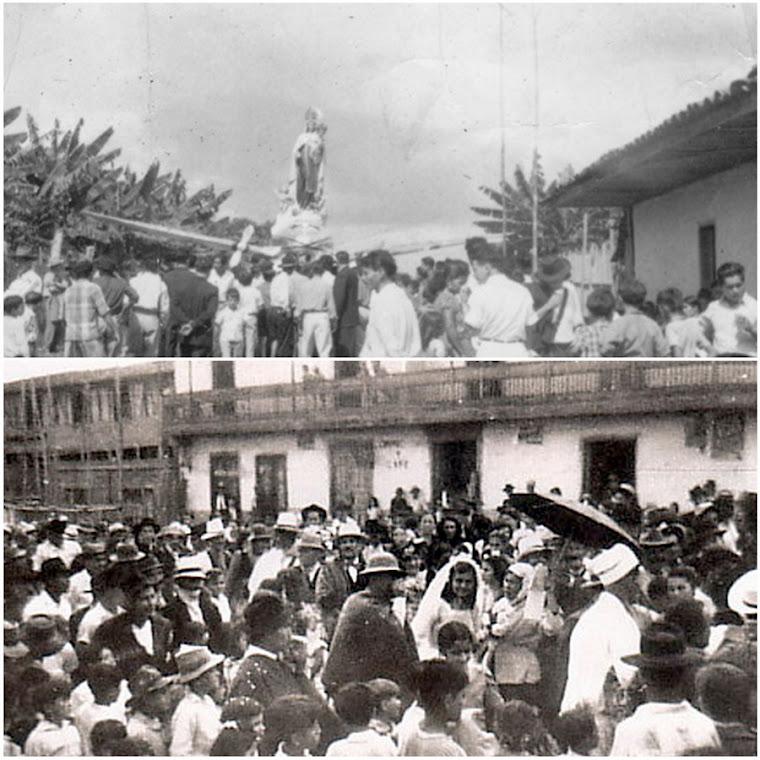 "Vultee BT-13 ""Valiant""Cuando la Virgen del Carmen Tuvo Alas. Matrimonio Campesino. Restrepo"
