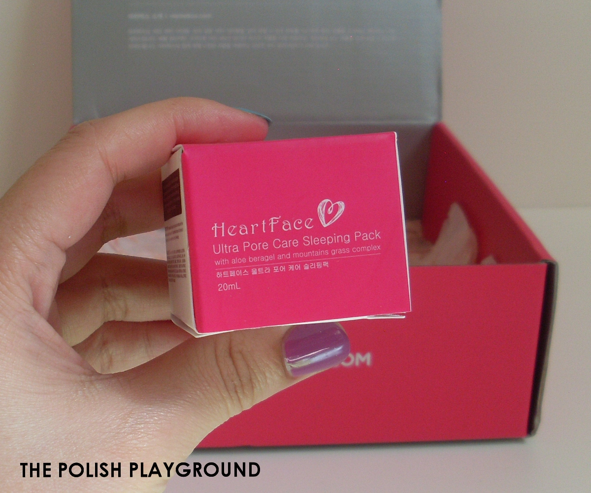 Memebox Luckybox #3 Unboxing - HeartFace Ultra Pore Care Sleeping Pack