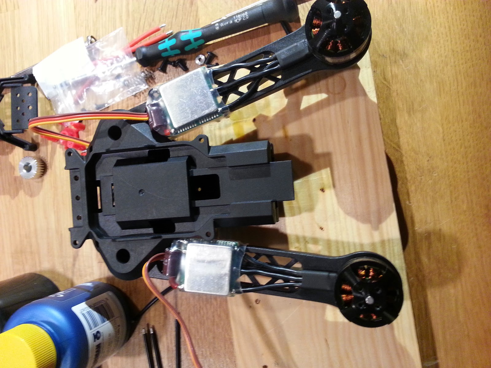 Rc Build Log Le Trifecta Openpilot Cc3d Wiring Diagram Tricopter Front Arms Not Folding Completely Due To The Escs