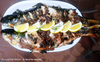 Around the world in favorite recipes fish and seafood for Mullet fish recipe