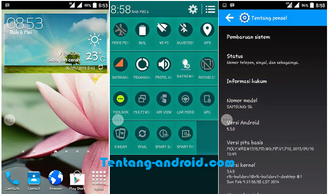 Download CUSTOM ROM SAMSUNG S6 for advan s5e