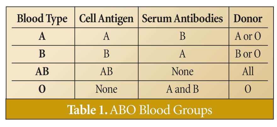 abo grouping method