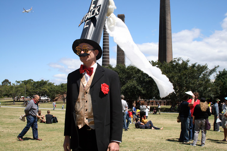 At the human Sign in Sydney Park 13/10/12