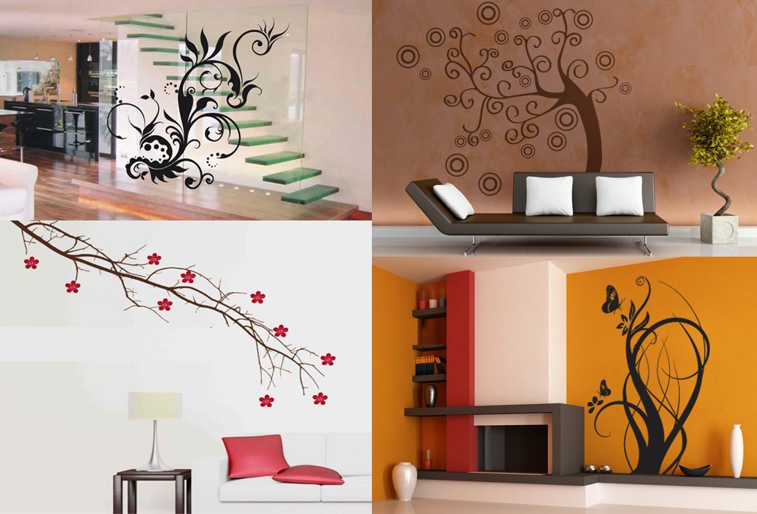 Dise os para pared colores y formas para decorar los for Disenos de interiores en paredes