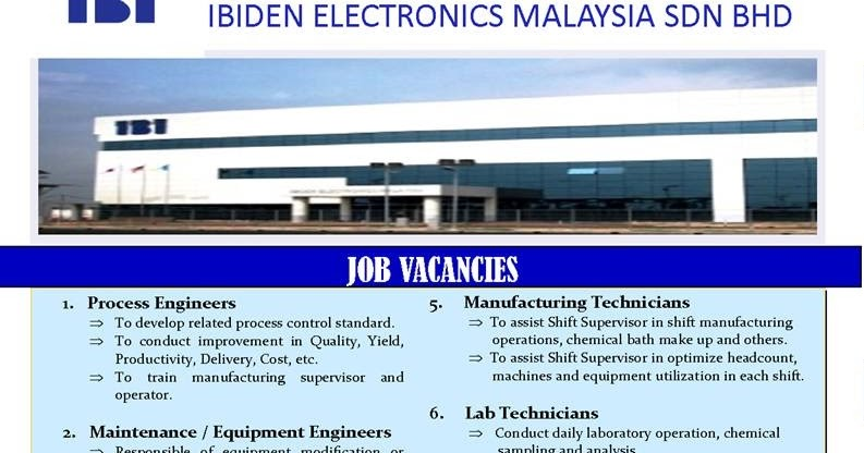 Faisal Zulhumadi: Multiple Job Vacancies: Ibiden ...