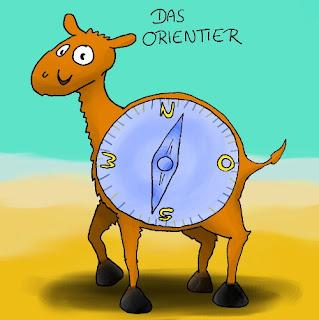 Das Orientier ,Kompass, Orientierung, Tier