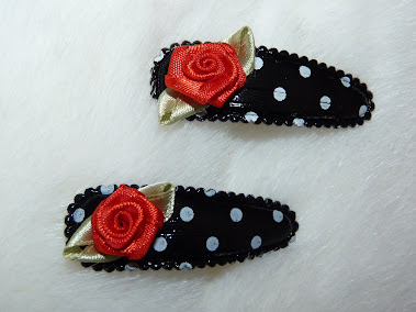 polka dot red rose haircandy