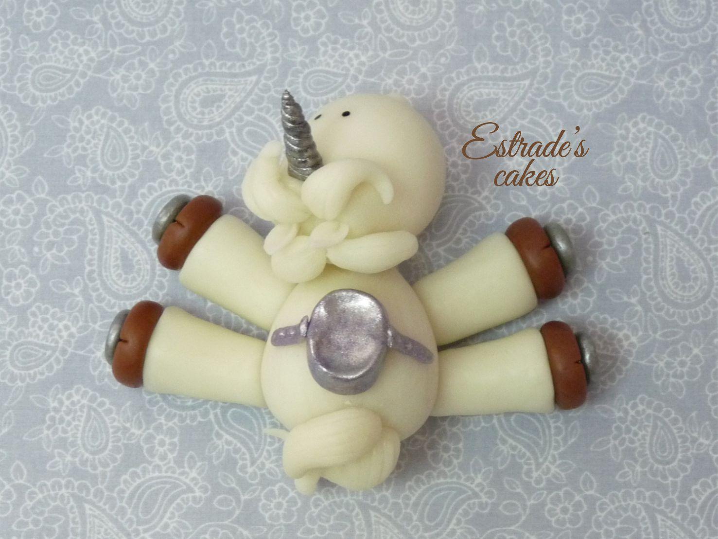 unicornio modelado en porcelana fría - 3