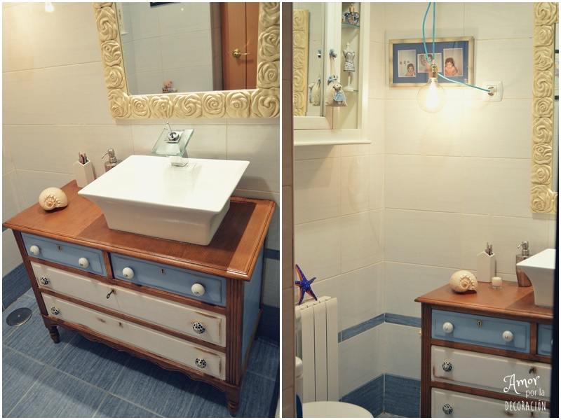Instalar un mueble vintage a un lavabo leroy merlin for Mueble lavabo pie leroy merlin