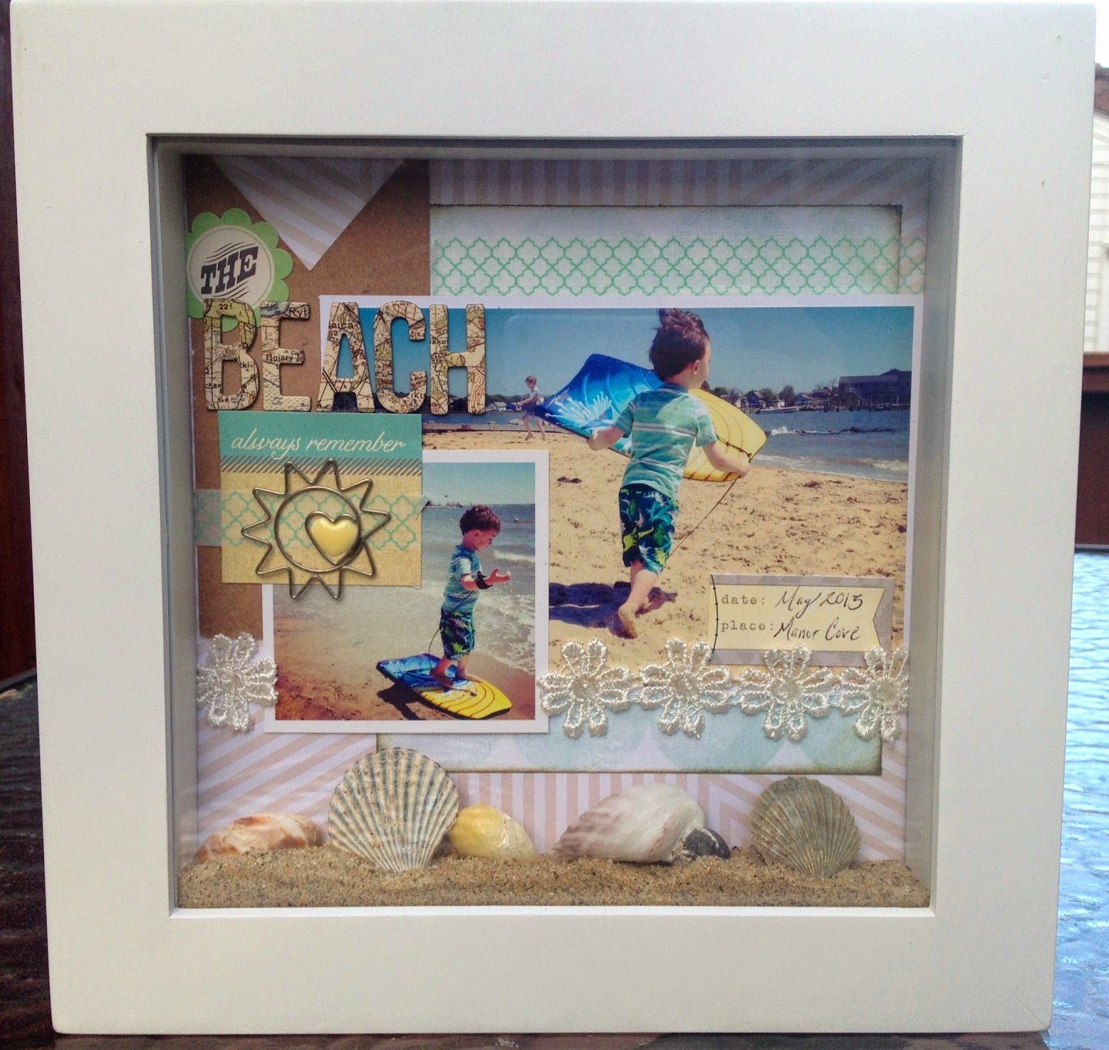 how to make a shadow box from a book