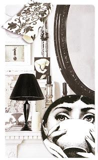 black and white inspiration board