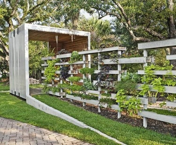 Palette Bois Deco Jardin. Finest Bureau En Palette Palette Bois Deco ...