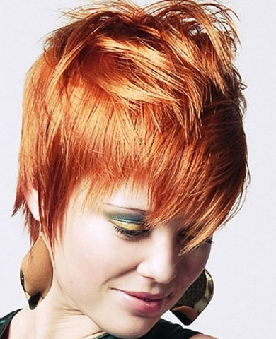 Chic Short Red Hair Style 2013