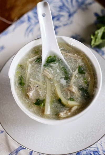 Chicken Soup with Fresh Bamboo Shoot - Súp Gà Măng Tươi