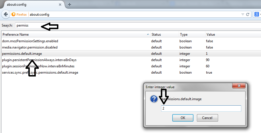 Tutorial Disable Images Firefox 2