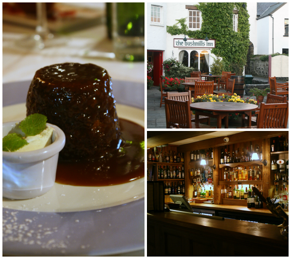 Sticky Toffee Pudding at Bushmill's Inn in Ireland