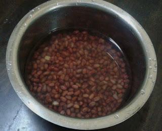 inti, kacang, merah, kuih, bom, bijan, onde-onde, resepi, tradisional