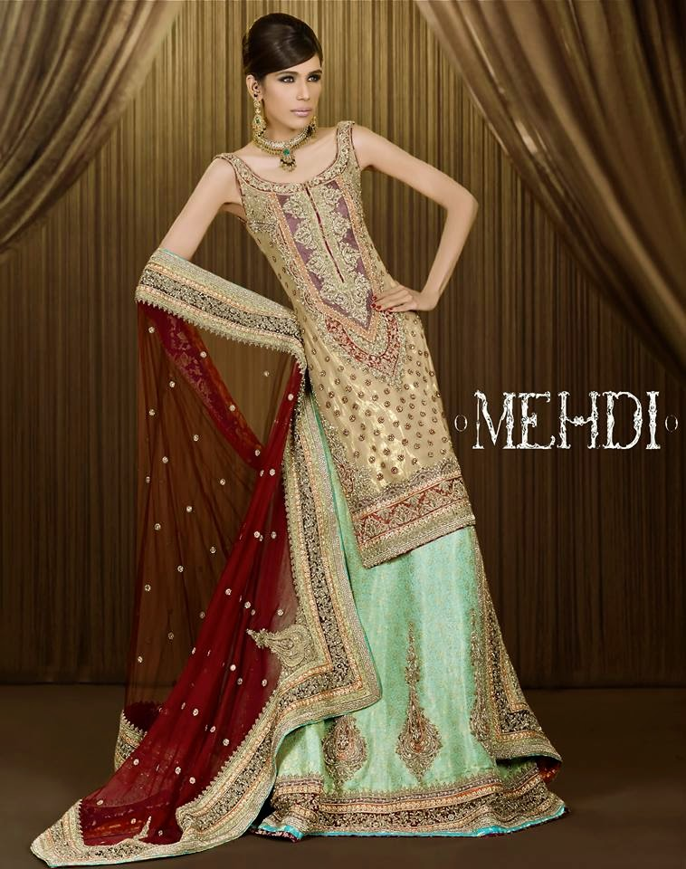 Mehndi Bridal Collection : Bridal wear dresses by mehdi ready to