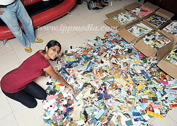Shivani Suraiya photo, Shivani Suraiya world record, Shivani Suraiya bookmarks collection record, world's largest bookmarks collection, bookmarks collection Guinness world record