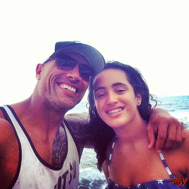 Dwayne 'The Rock' Johnson With His Daughter.