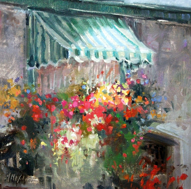Mary Maxam Paintings Window Box Floral Colorful