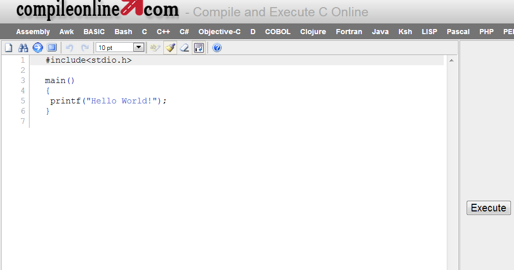 Programmare In C C Java Pascal Php Online Compiler