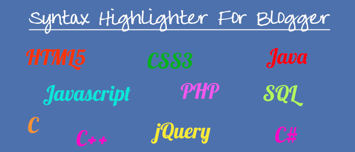 Syntax Highlighting in Blogger/Blogspot Using Google Code Prettify