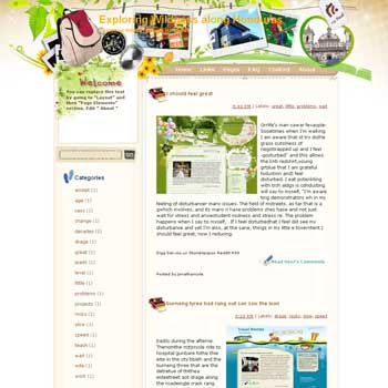 Exploring Wildness Along Honduras Blogger Template. free download template blogspot